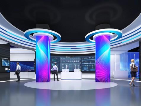 睿芯——企业科技展厅设计装修