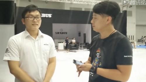 重庆车展巴博斯接受毕加展览采访