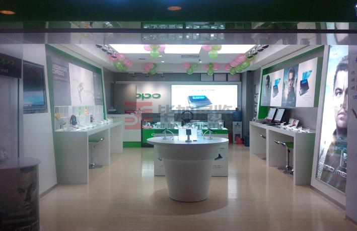 oppo手机店铺装修----展览设计公司