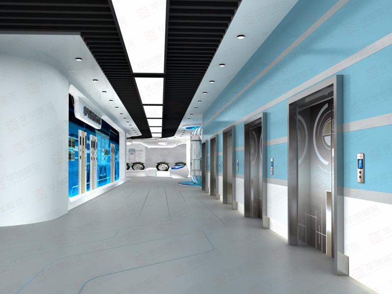 宁波申菱—电梯展厅案例