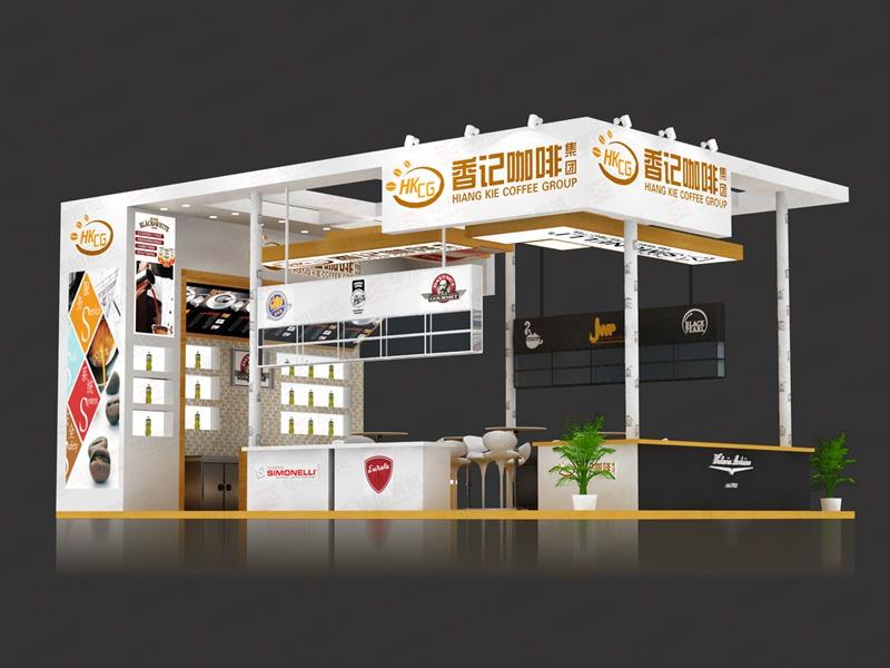 香记咖啡酒店用品展设计搭建
