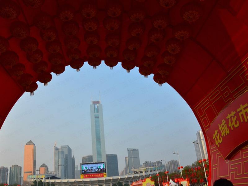 广州天河迎春花市设计