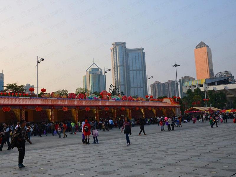 广州天河迎春花市搭建
