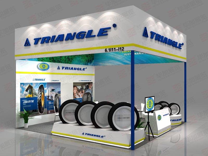 三角轮胎型材展台设计搭建
