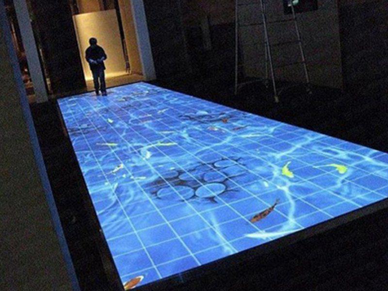 大屏融合-地面投影