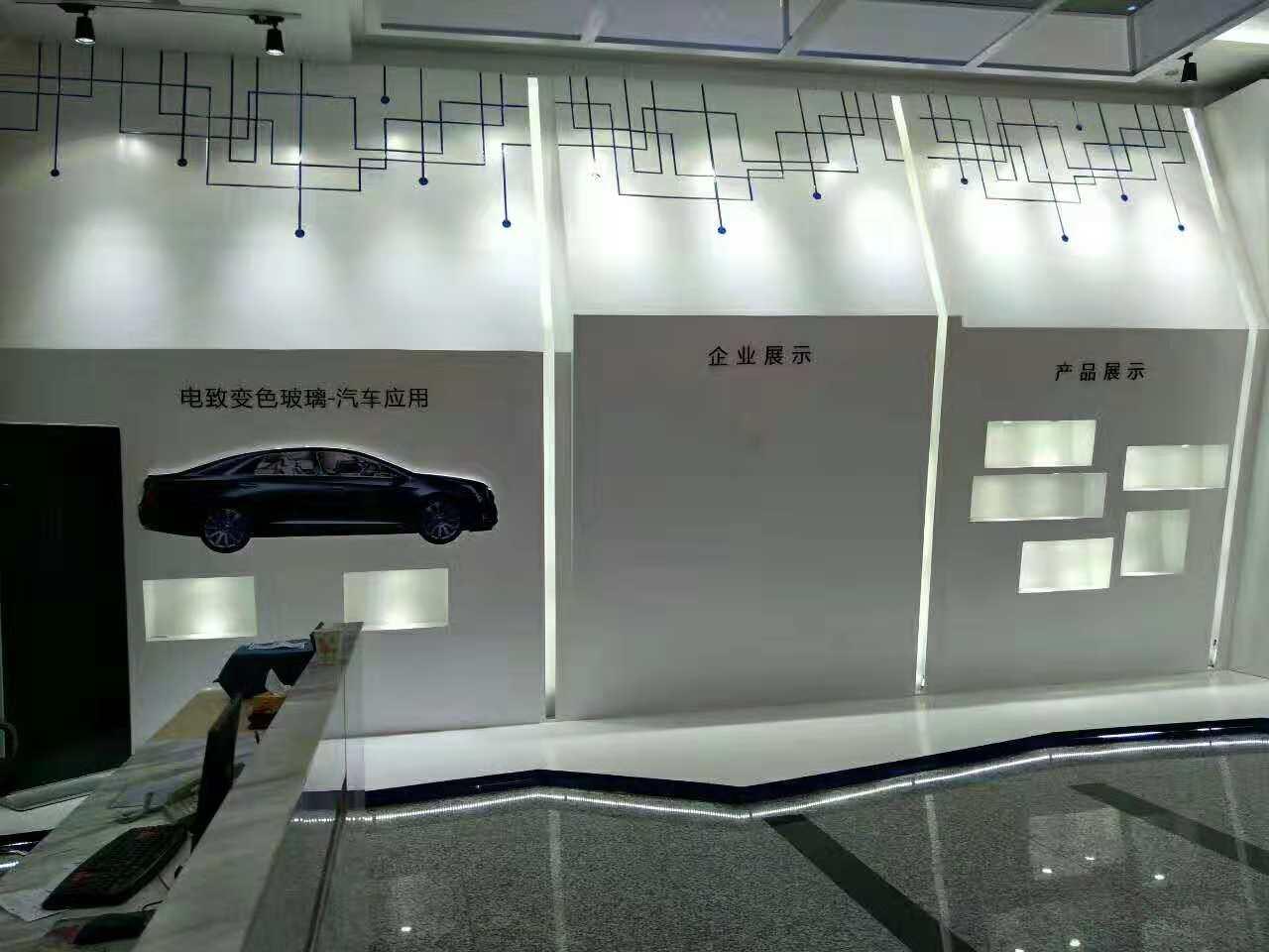 深圳达沃斯光电——企业形象墙设计装修