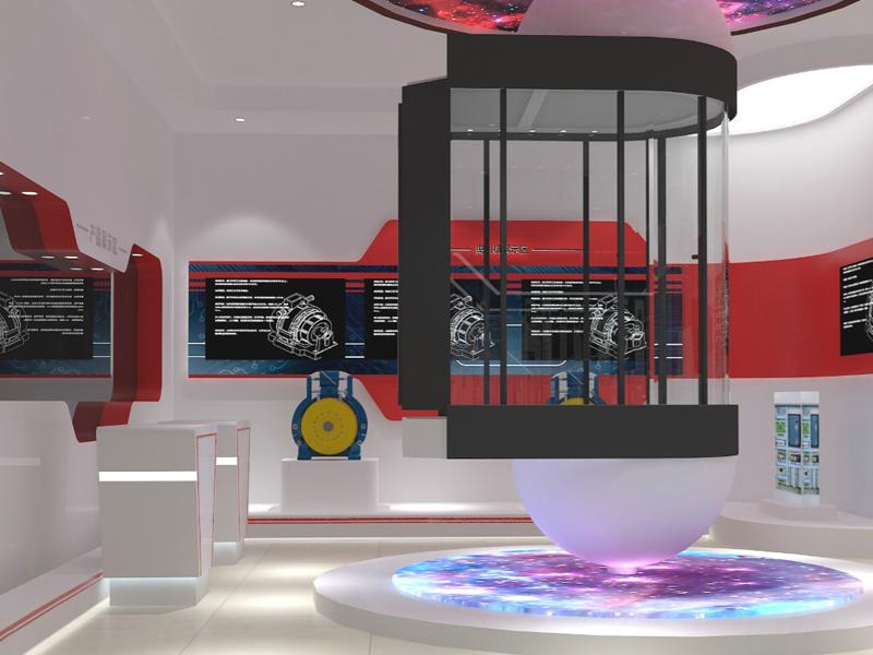 通祐电梯展示厅——科技企业展厅设计