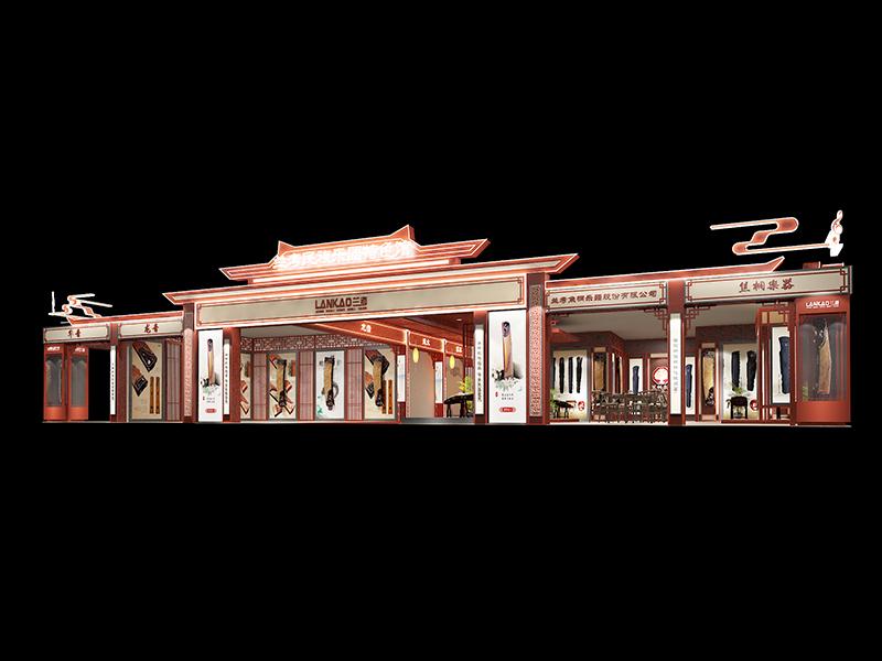 兰考民乐展台——乐器展展位搭建