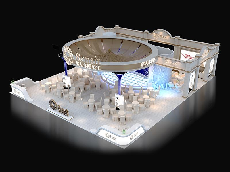 美人邦医学美容中心——美博会施工设计