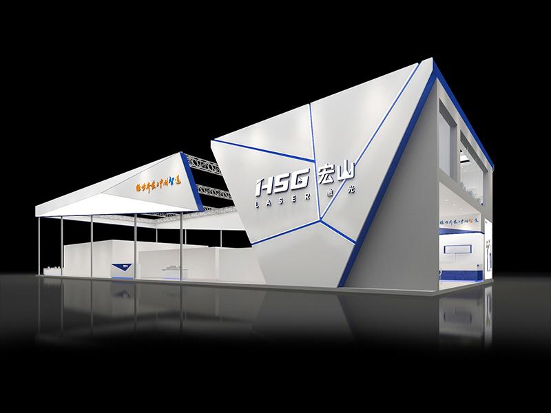 宏山激光—机械展展览设计