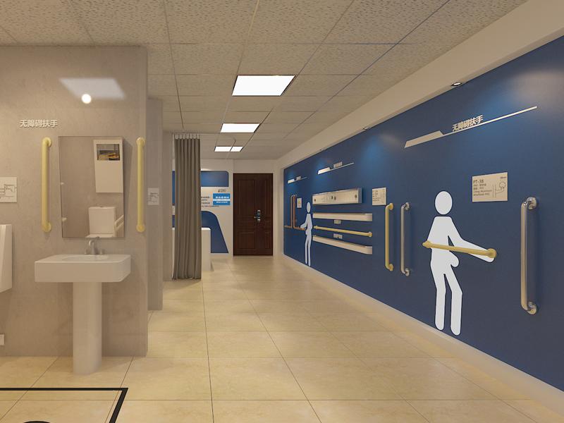 蓝品盾—楼梯扶手展厅设计装修
