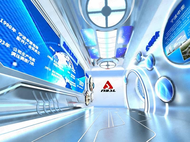 宁波申电梯展示厅——电梯企业展厅设计施工