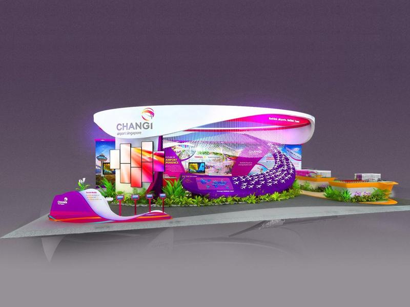 樟宜机场——航展设计搭建