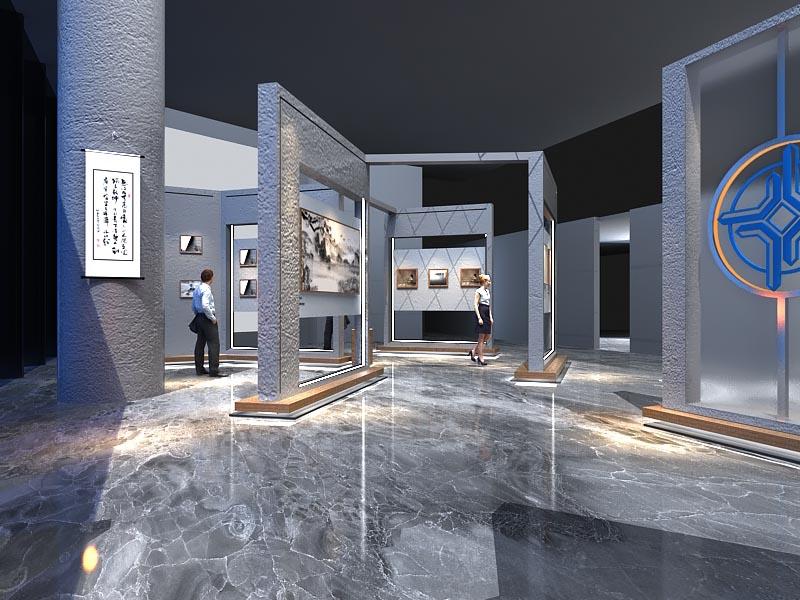 中交广东航道局——书画展厅设计装修