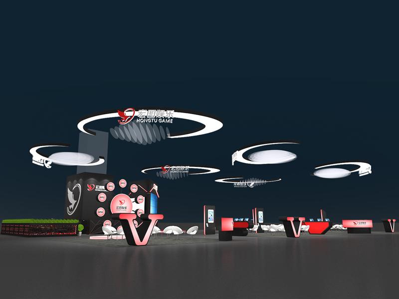 宏图娱乐——游戏展台设计搭建