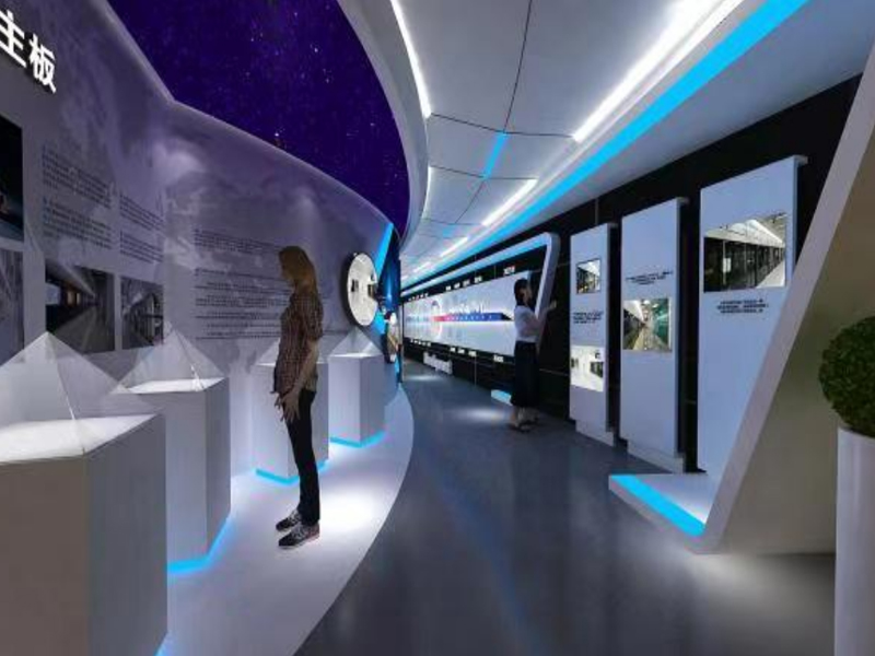 上海嘉成轨道交通——交通展厅设计