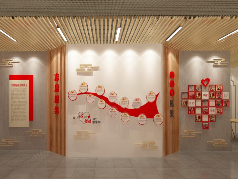 望牛墩新时代文明实践中心——党政展厅设计装修