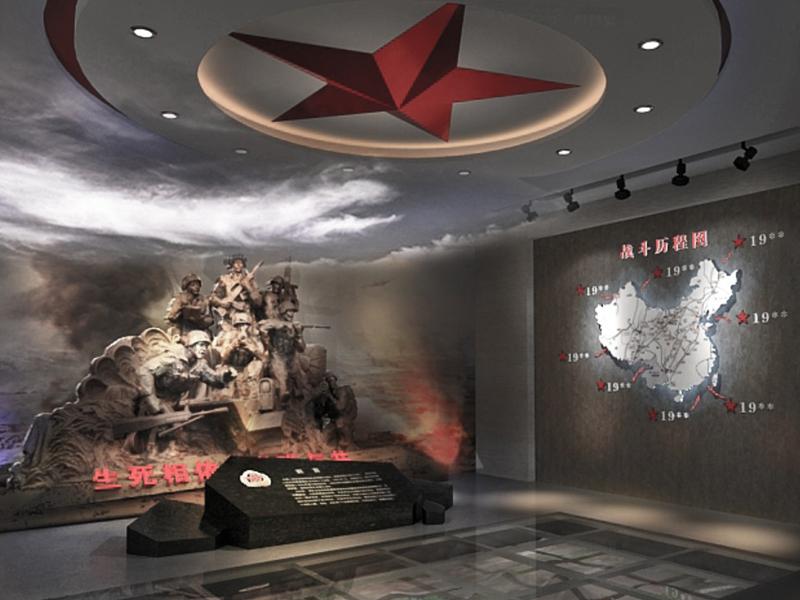 南部战区合成旅连——荣誉室设计装修
