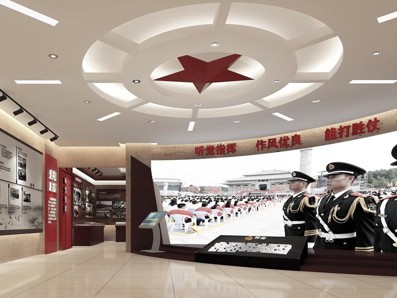 武警上海二支队奉贤大队——荣誉室策划设计