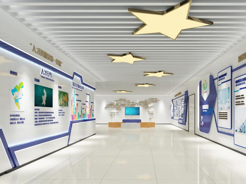 香雪社区——社区人才中心展厅设计装修